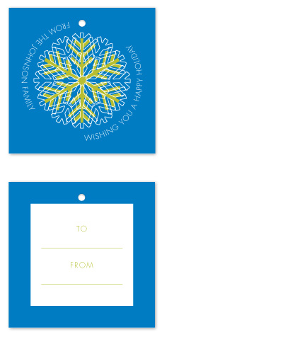 gift tags - A Hip Snowflake by Sareph Design