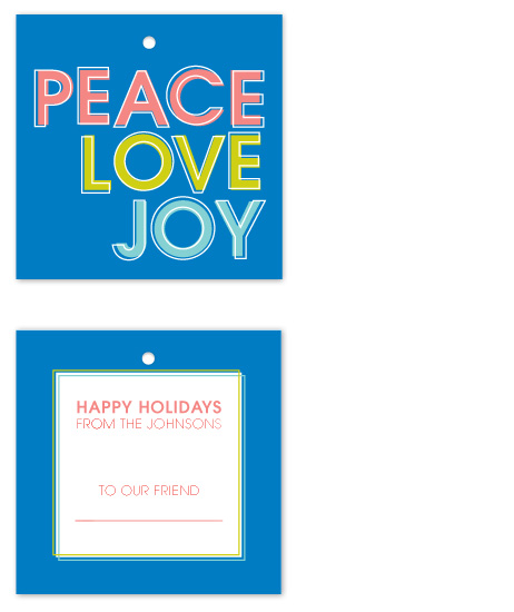 gift tags - Peace, Love & Joy by Sareph Design