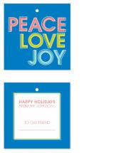 Peace, Love & Joy by Sareph Design