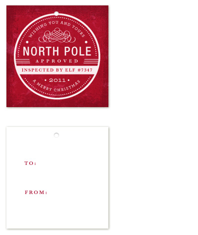 gift tags - North Pole Approved by Kristen Smith