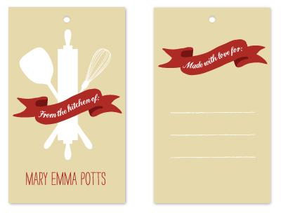 gift tags - Red Ribbon Kitchen by Blixa 6 Studios