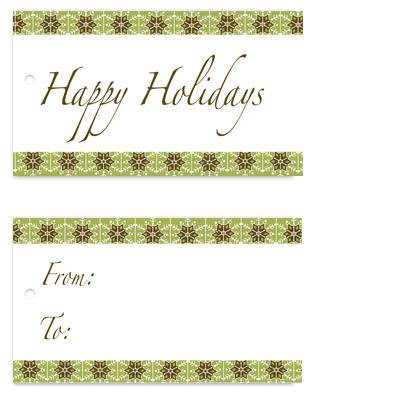 gift tags - Elegant Snowflake Border by Karen Robert