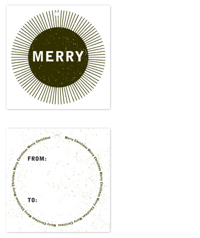 gift tags - Merry Spark by Mountain Paper