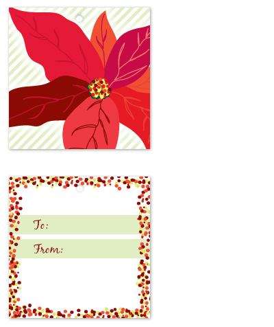 gift tags - Posh Poinsettia by Rebekah Canavan