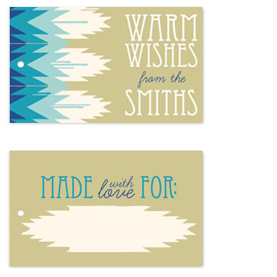 gift tags - Warm Wishes Santa Fe by Mountain Paper
