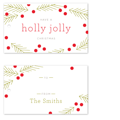 gift tags - holly jolly by Toast & Laurel