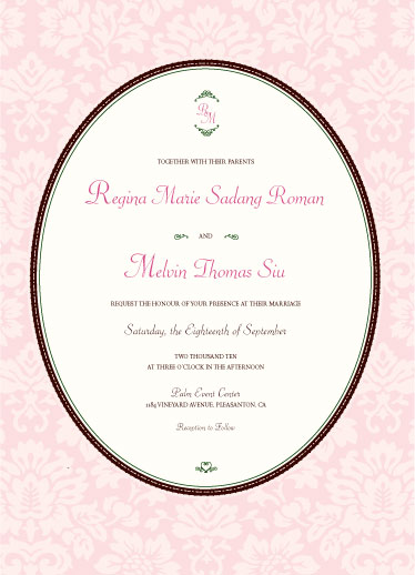 wedding invitations - Renaissance Romance by Corinne Wong