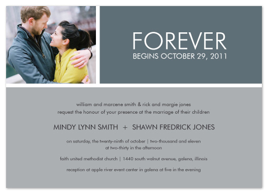 wedding invitations - Forever Begins... by mb design
