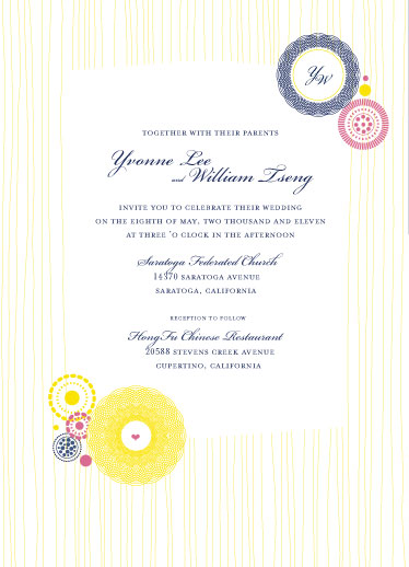 wedding invitations - Kaleidoscope Flowers by Corinne Wong