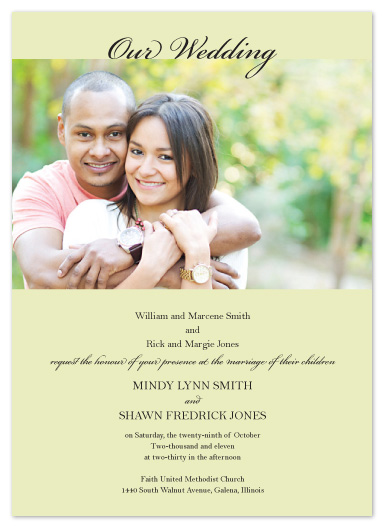 wedding invitations - Our Wedding by mb design