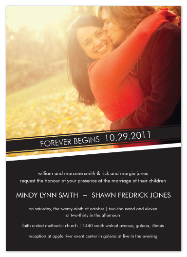 wedding invitations - Forever by mb design