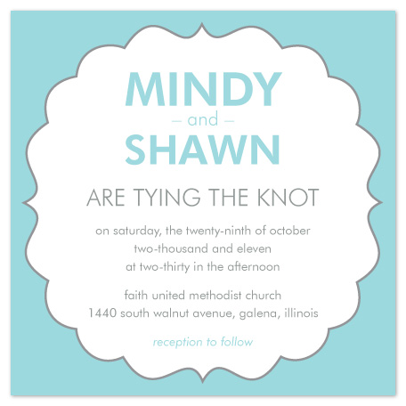 wedding invitations - Tying the knot by mb design