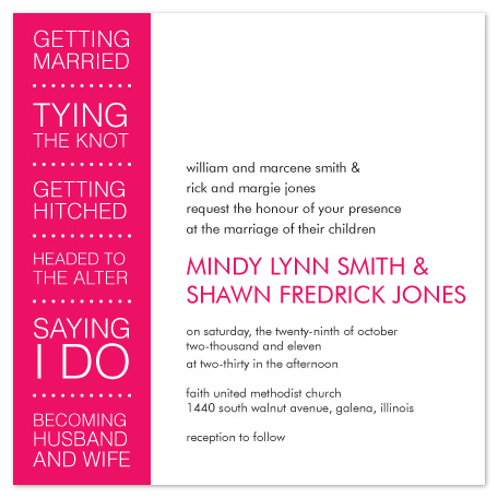 wedding invitations - The big day by mb design