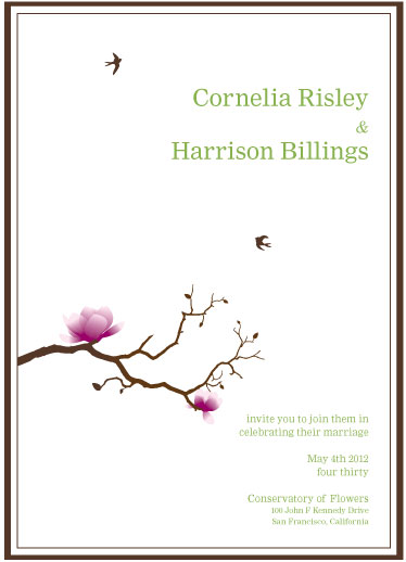wedding invitations - Birds in Flight by Corinne Wong
