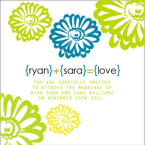 wedding invitations - 1+2=Love by Lisa Saliture