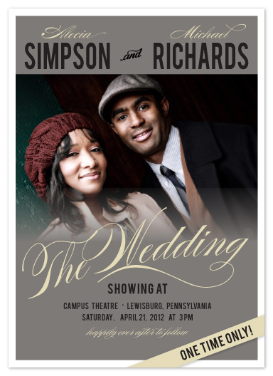 wedding invitations Classic Love Movie at Mintedcom