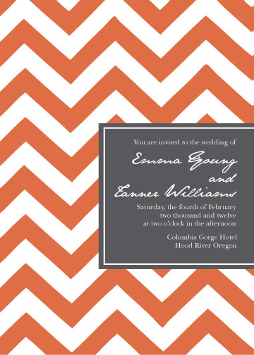 wedding invitations - Chevron Romance  by Finch Paperie