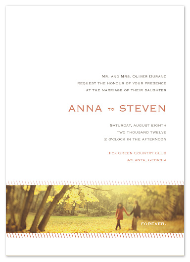 wedding invitations - Forever panoramic by Stacey Meacham