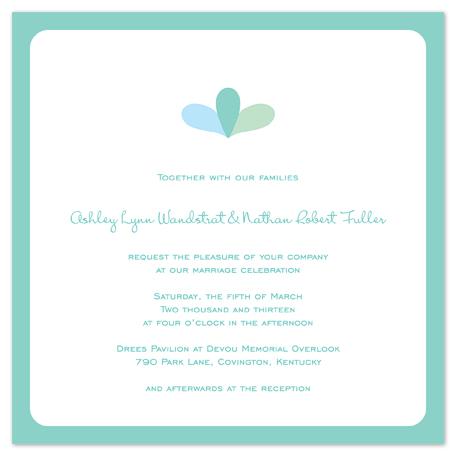 wedding invitations - Two Hearts by Kim Dietrich Elam