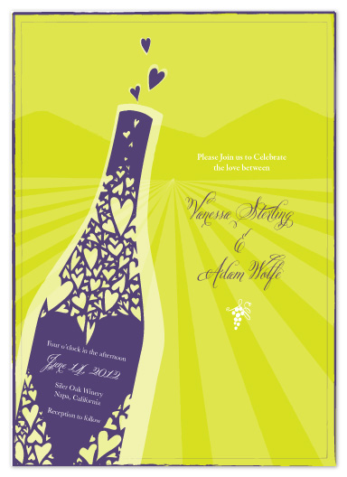 wedding invitations - Love Wine Wedding by Vanessa Wolfe