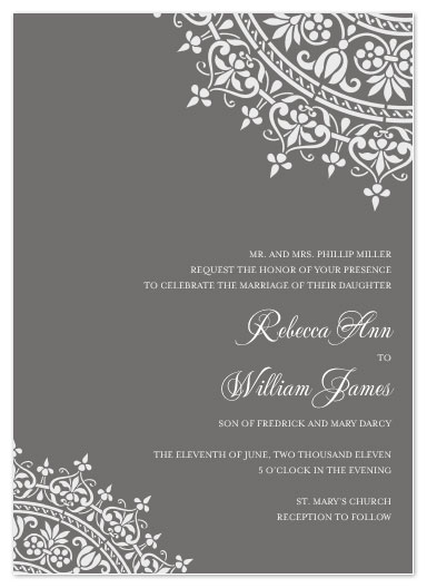 wedding invitations - Ornante Opulence by Courtney Michelle Designs