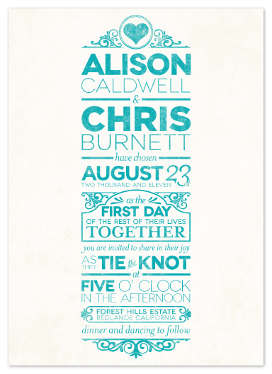 wedding invitations - Classically Modern by GeekInk Design