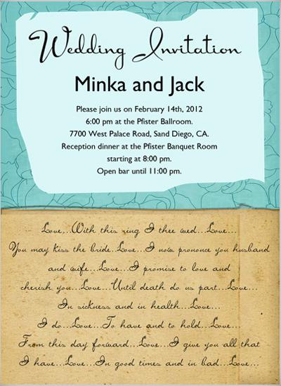 wedding invitations - Love letters Wedding Invitation by Lisa Saliture