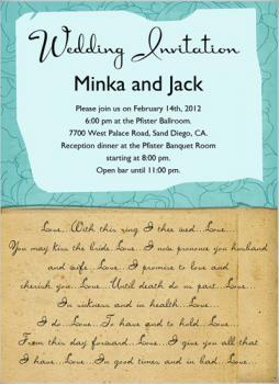 Love letters Wedding Invitation
