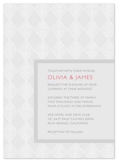wedding invitations - diamonds in line by Waldo Press