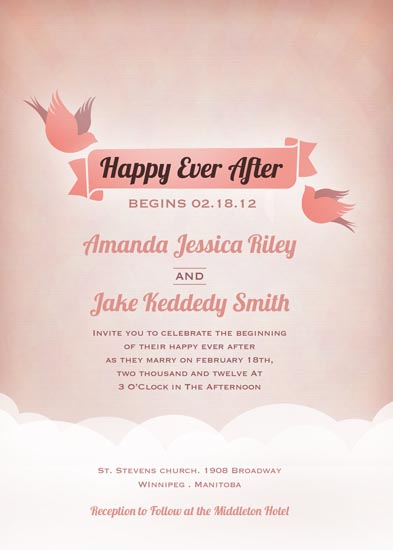 wedding invitations - Ever After by Kelly Caruk