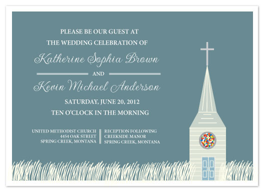 wedding invitations - Church Stained Glass by Jenn Johnson