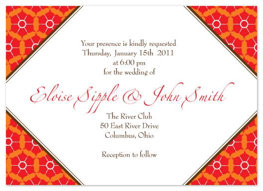 wedding invitations - Winter Reds by Karen Robert