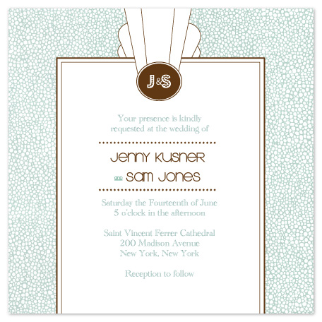 wedding invitations - Art Deco in Lights by Karen Robert