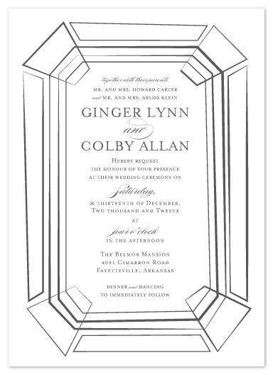 wedding invitations - Emeraldesque by Bleu Collar Paperie