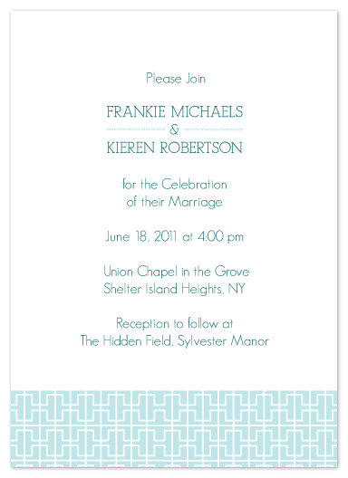 wedding invitations - Chinoserie Blue by Karen Robert
