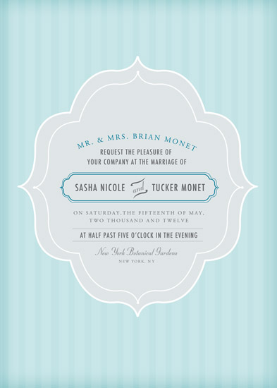 wedding invitations - Something Blue by Kelly Caruk
