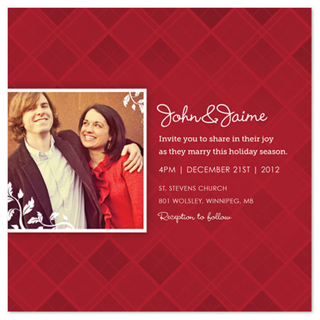 wedding invitations - Marry Christmas by Kelly Caruk