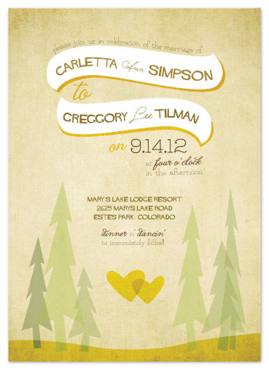 wedding invitations - In the Woods by Bleu Collar Paperie