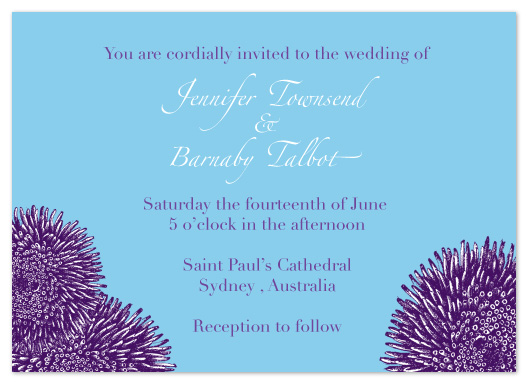 wedding invitations - Purple Zinnias by Karen Robert