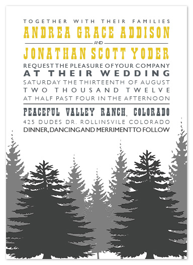 wedding invitations - Enchanted Forest by TwoBirds Paperie