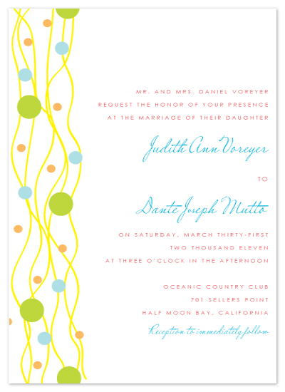 wedding invitations - Bright Bubbles by Stella Bella Invites