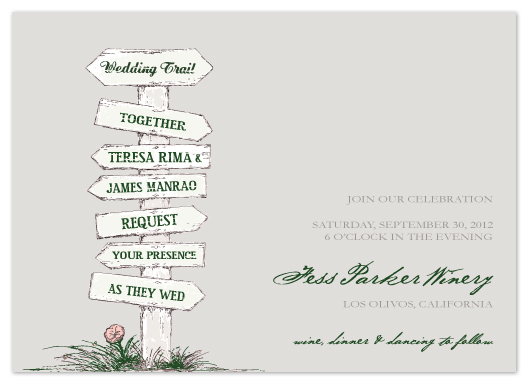 wedding invitations - wedding trail by Noma and Dolly