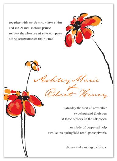 wedding invitations - Pretty Petals by Bridget Collins