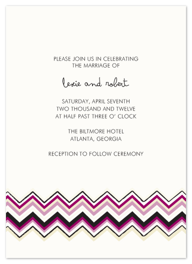 wedding invitations - zig zag amour by Katie Leggitt