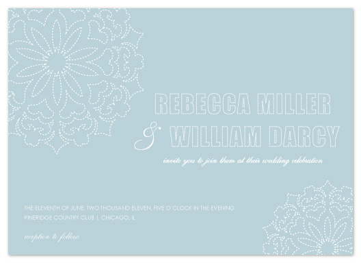 wedding invitations - Snowflakes by Courtney Michelle Designs