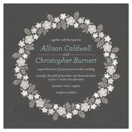 wedding invitations - Floral Ring by GeekInk Design