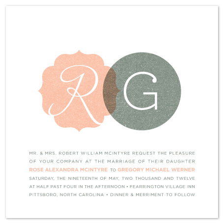 wedding invitations - His and Hers by Olivia Raufman