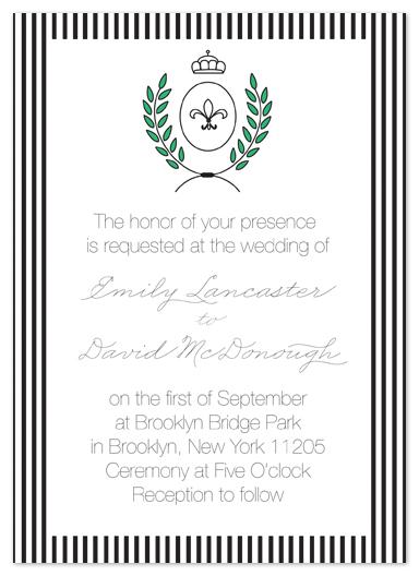 wedding invitations - Crest Wedding by Papersheep