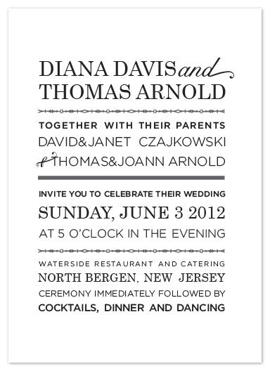wedding invitations - black and white by Heather Ben-Zvi