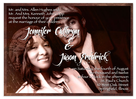 wedding invitations - Rustic by Connie Daly